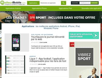 Main page screenshot of topappli.fr