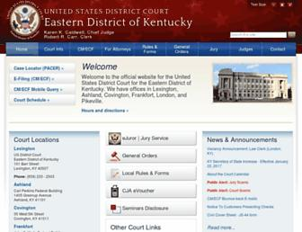 kyed.uscourts.gov screenshot