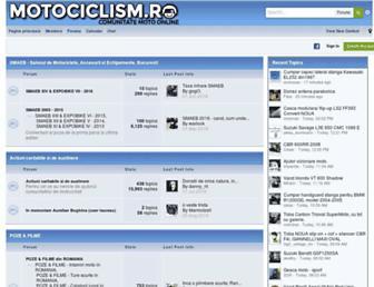 Main page screenshot of motociclism.ro