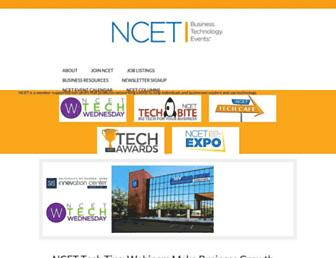 Main page screenshot of ncet.org