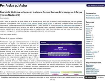 Main page screenshot of perarduaadastra.eu