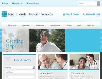 tenetfloridaphysicianservices.com screenshot