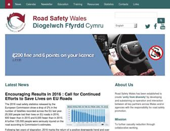 Main page screenshot of roadsafetywales.co.uk