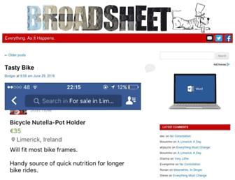 Main page screenshot of broadsheet.ie