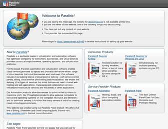 Main page screenshot of gleesonkean.ie