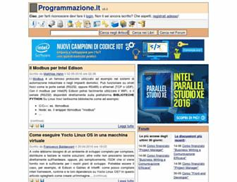 Main page screenshot of programmazione.it