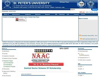 stpetersuniversity.org screenshot