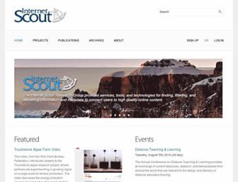 Main page screenshot of scout.wisc.edu