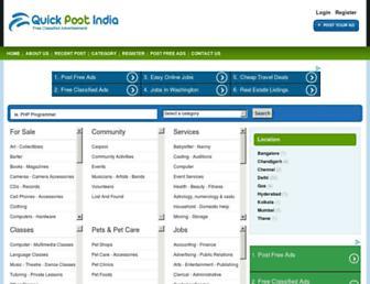 Thumbshot of Quickpostindia.com