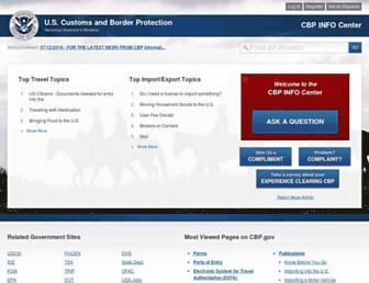 help.cbp.gov screenshot