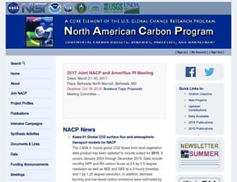 nacarbon.org screenshot