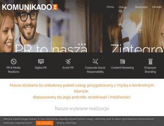 Main page screenshot of komunikado.pl