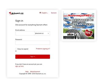 Main page screenshot of email.cz