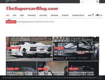 thesupercarblog.com screenshot