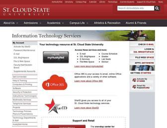Main page screenshot of huskynet.stcloudstate.edu