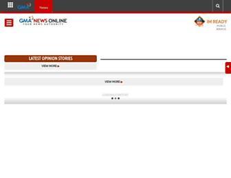 Main page screenshot of blogs.gmanews.tv