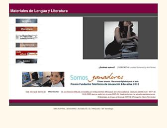 Main page screenshot of materialesdelengua.org