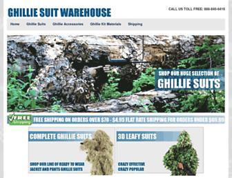 ghilliesuitwarehouse.com screenshot