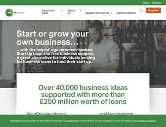 startuploans.co.uk screenshot