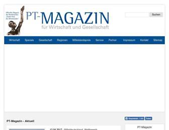 pt-magazin.de screenshot