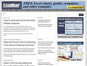 exceluser.com screenshot