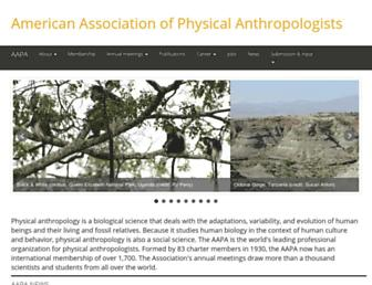 Main page screenshot of physanth.org
