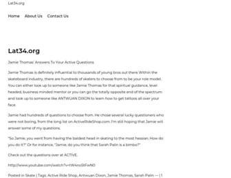 Main page screenshot of lat34.org
