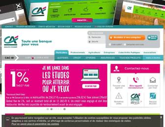 Main page screenshot of ca-anjou-maine.fr