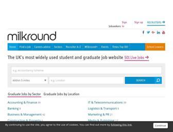 milkround.com screenshot