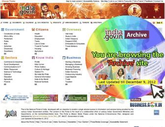 archive.india.gov.in screenshot