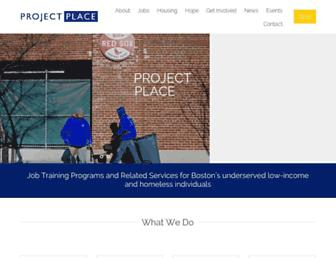 Main page screenshot of projectplace.org