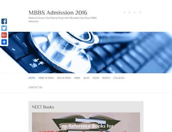 mbbsadmission.co screenshot
