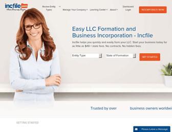 incfile.com screenshot