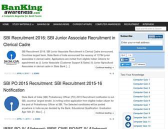 bankingawareness.com screenshot