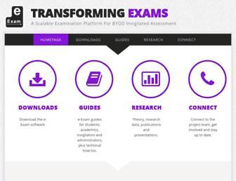 transformingexams.com screenshot