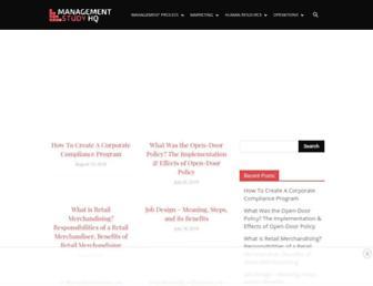 managementstudyhq.com screenshot