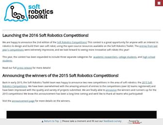 softroboticstoolkit.com screenshot