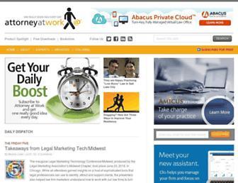 attorneyatwork.com screenshot