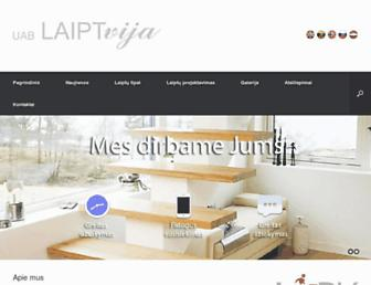 Main page screenshot of laiptvija.lt