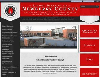 Main page screenshot of newberry.k12.sc.us
