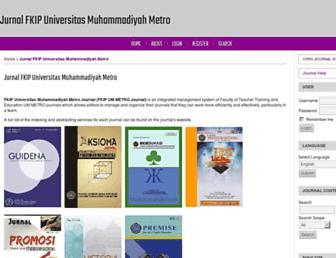 ojs.fkip.ummetro.ac.id screenshot