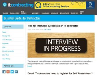 itcontracting.com screenshot