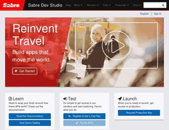 developer.sabre.com screenshot