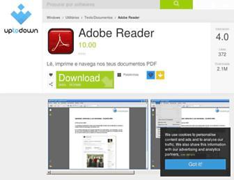 adobe-reader.br.uptodown.com screenshot