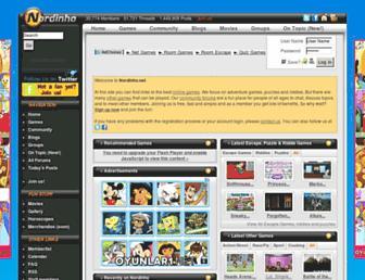 Main page screenshot of nordinho.net