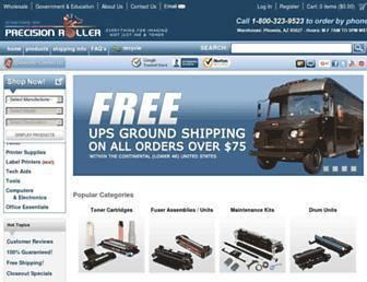 precisionroller.com screenshot