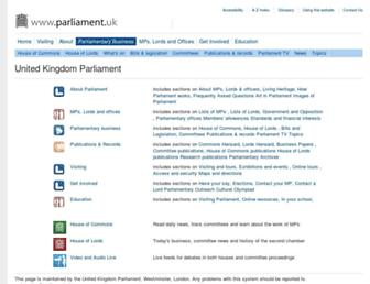 publications.parliament.uk screenshot
