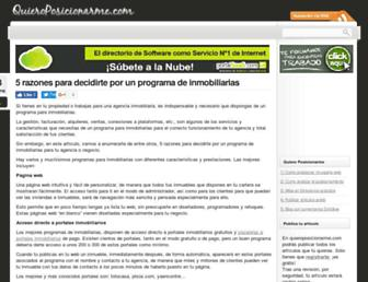 quieroposicionarme.com screenshot