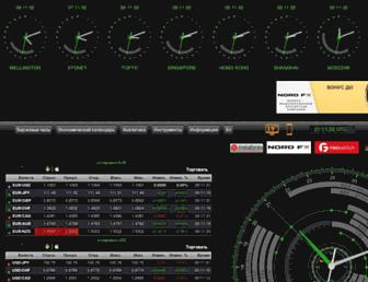 Main page screenshot of stocktime.ru