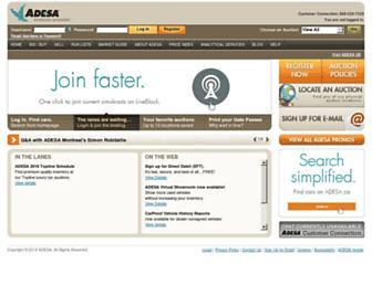 adesa.ca screenshot